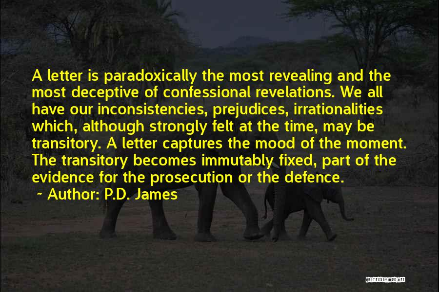 Defence Quotes By P.D. James