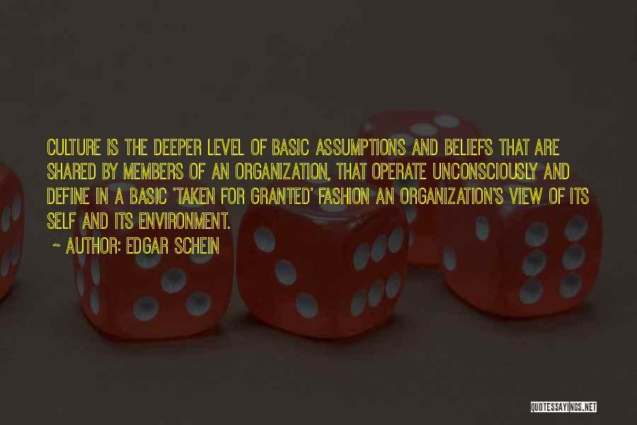 Define Culture Quotes By Edgar Schein