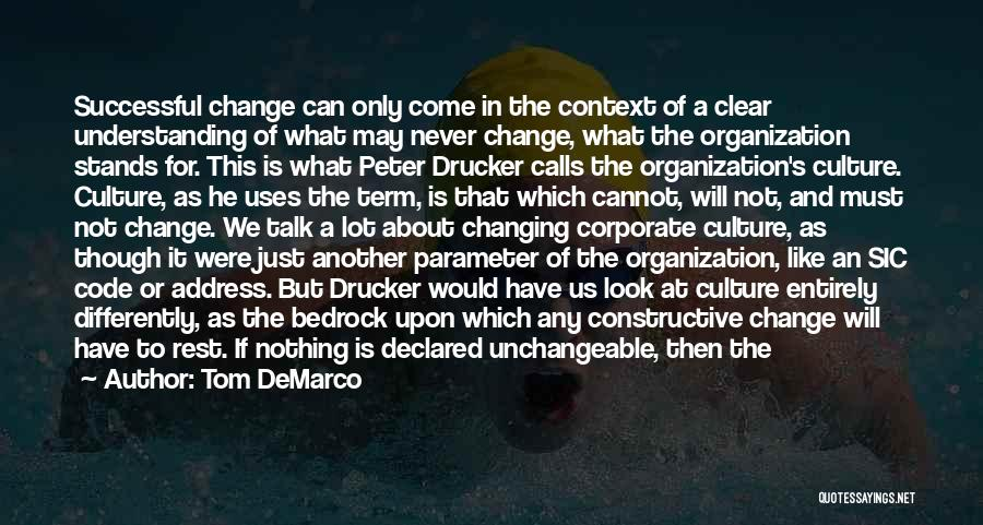 Define Culture Quotes By Tom DeMarco