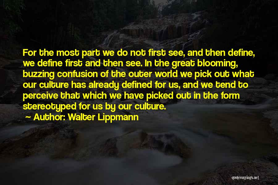 Define Culture Quotes By Walter Lippmann