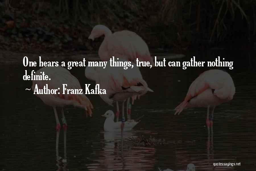 Definite Quotes By Franz Kafka