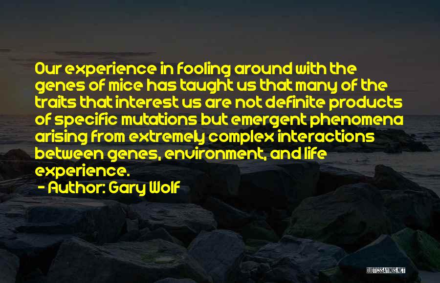 Definite Quotes By Gary Wolf