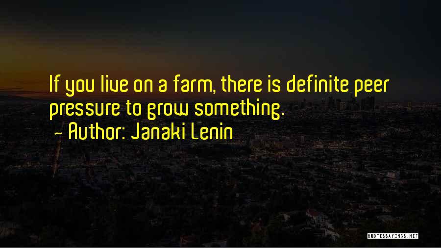 Definite Quotes By Janaki Lenin