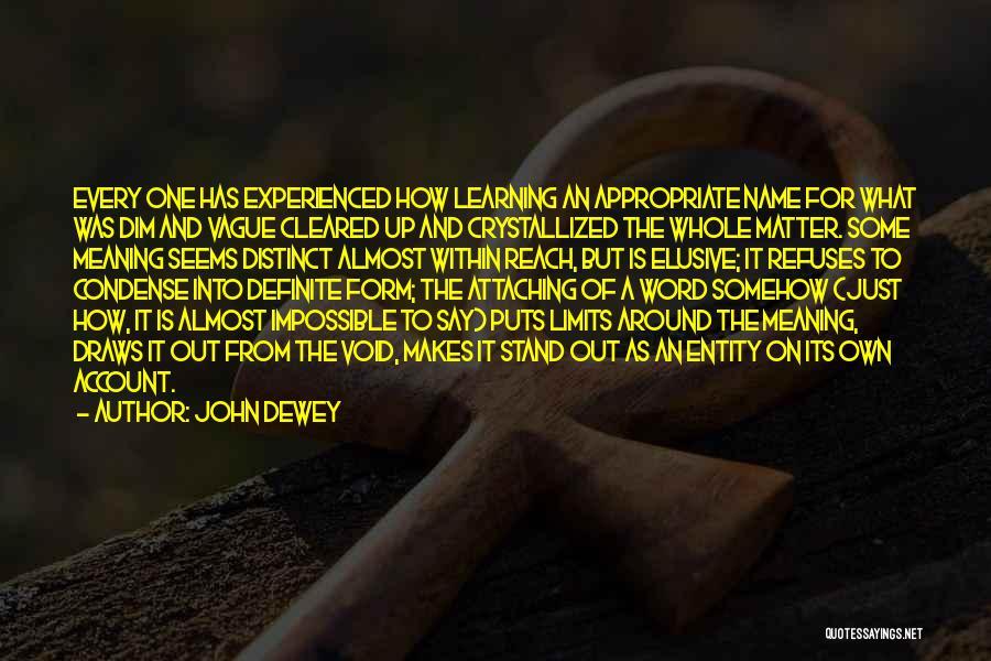 Definite Quotes By John Dewey