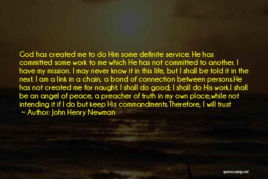 Definite Quotes By John Henry Newman