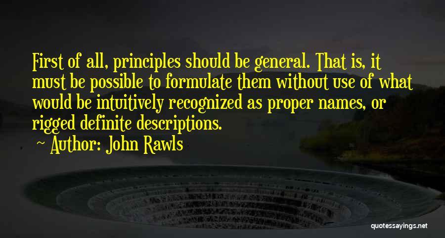 Definite Quotes By John Rawls