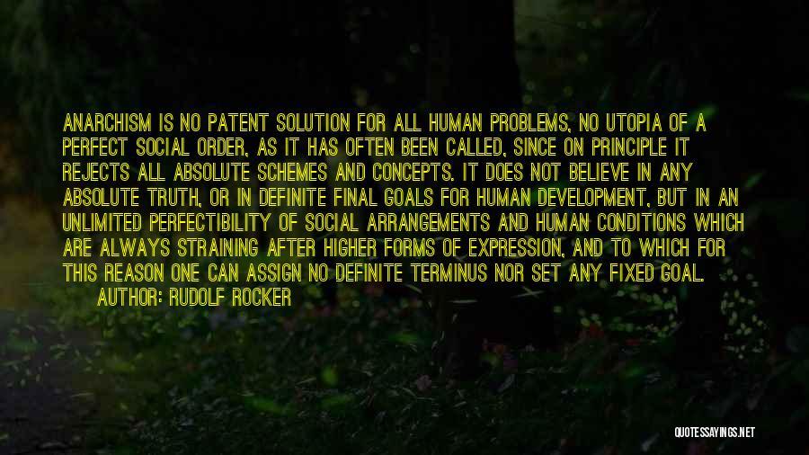 Definite Quotes By Rudolf Rocker