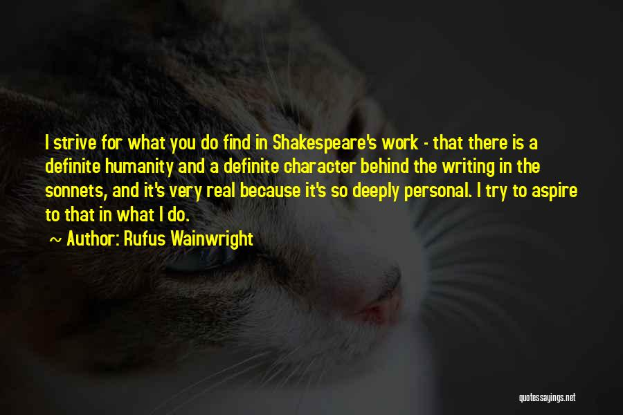 Definite Quotes By Rufus Wainwright