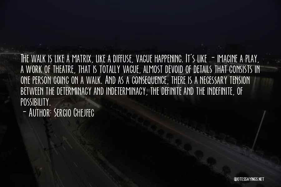 Definite Quotes By Sergio Chejfec