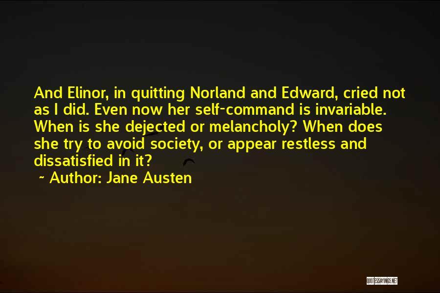 Dejected Quotes By Jane Austen
