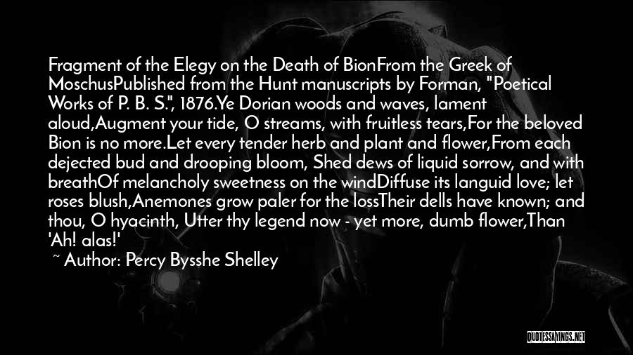 Dejected Quotes By Percy Bysshe Shelley