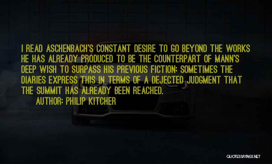 Dejected Quotes By Philip Kitcher
