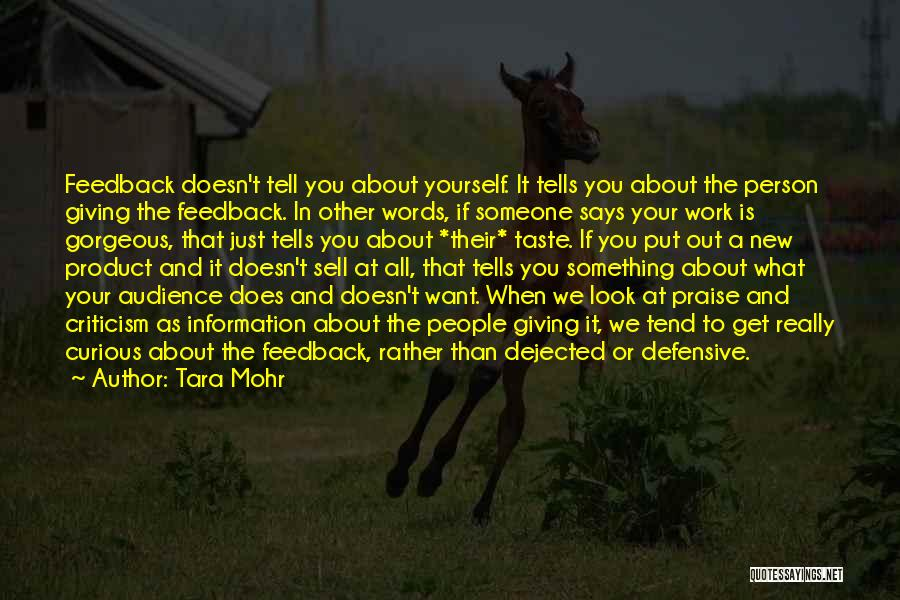 Dejected Quotes By Tara Mohr