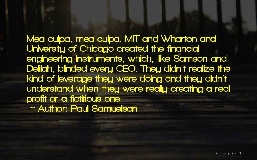 Delilah Quotes By Paul Samuelson