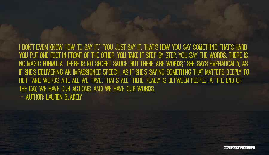 Delivering Speech Quotes By Lauren Blakely