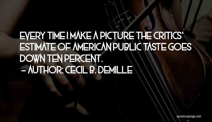 Demille Quotes By Cecil B. DeMille