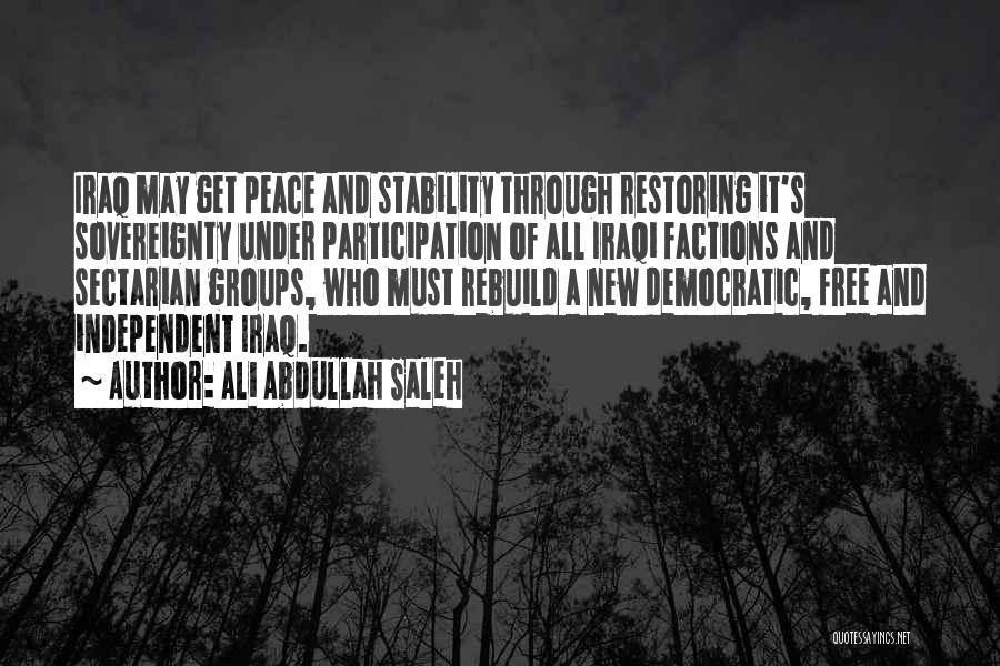 Democratic Participation Quotes By Ali Abdullah Saleh