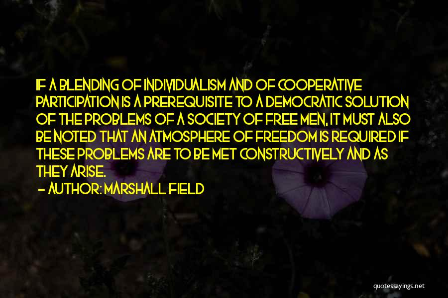 Democratic Participation Quotes By Marshall Field