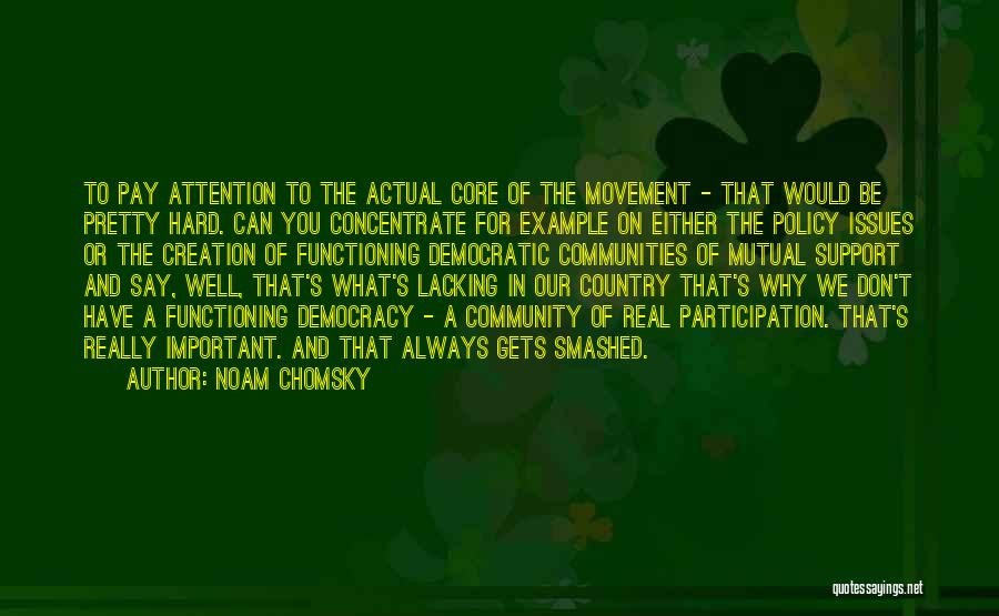 Democratic Participation Quotes By Noam Chomsky