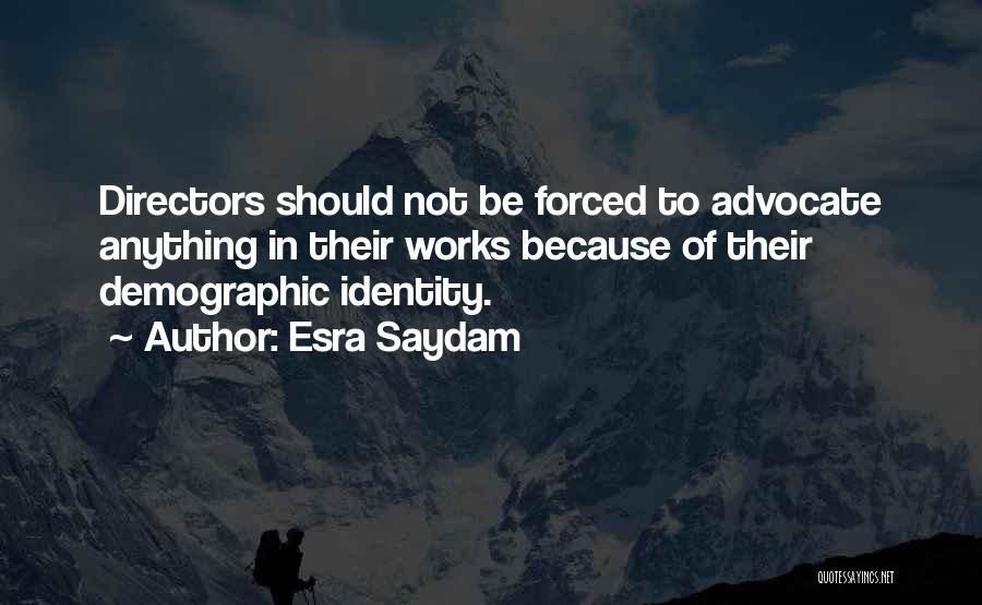 Demographics Quotes By Esra Saydam