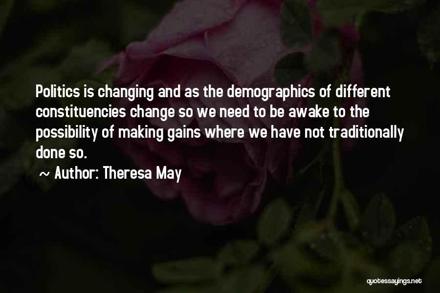 Demographics Quotes By Theresa May