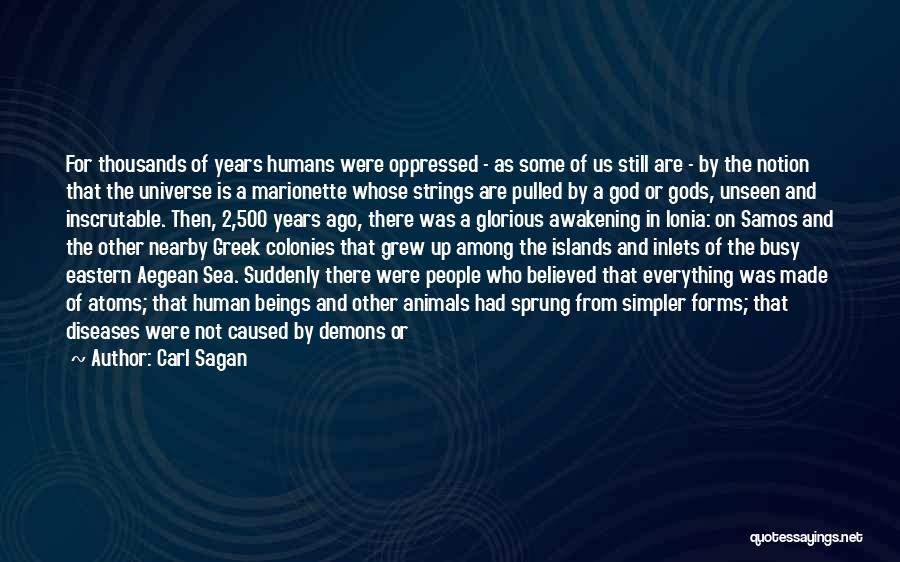 Demons On Earth Quotes By Carl Sagan
