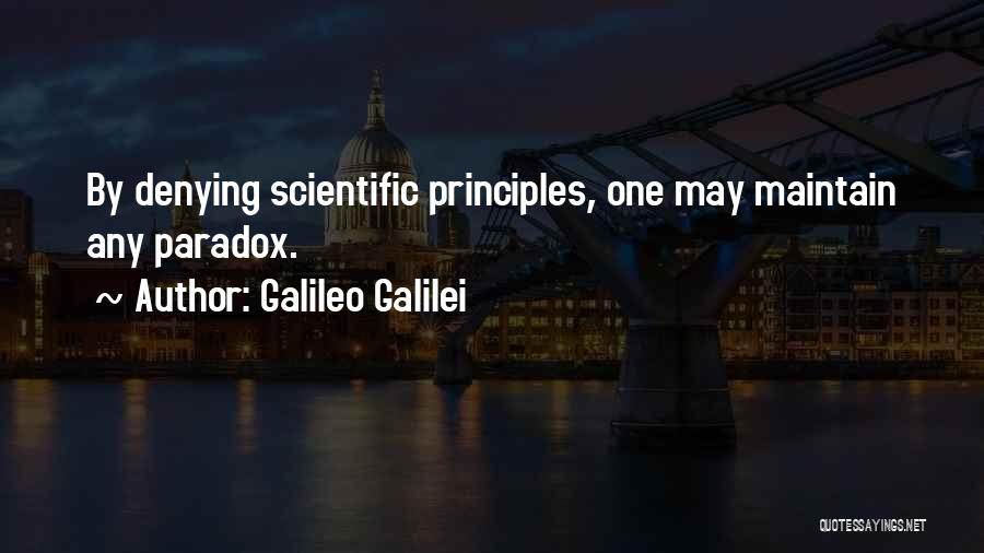 Denying Science Quotes By Galileo Galilei