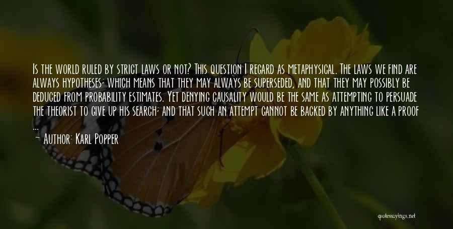 Denying Science Quotes By Karl Popper