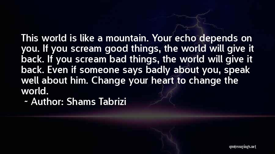 Depends On Someone Quotes By Shams Tabrizi