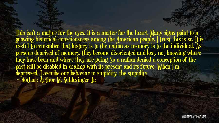 Depressed Heart Quotes By Arthur M. Schlesinger Jr.