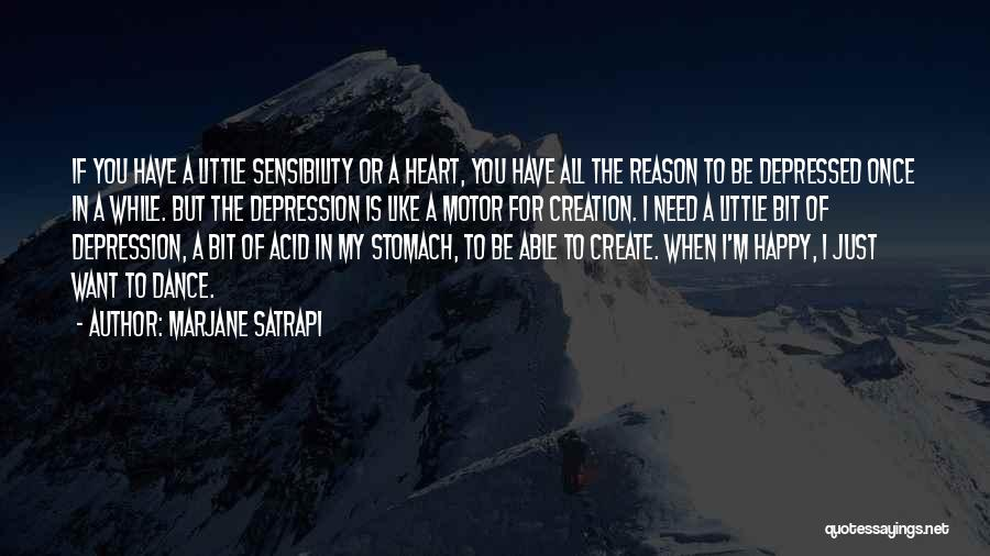 Depressed Heart Quotes By Marjane Satrapi