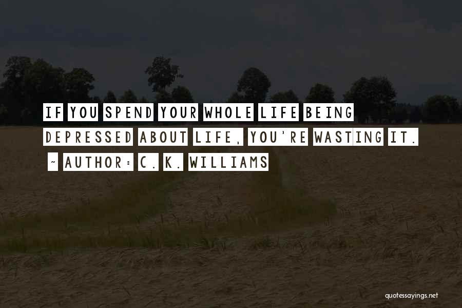 Depressed Life Quotes By C. K. Williams
