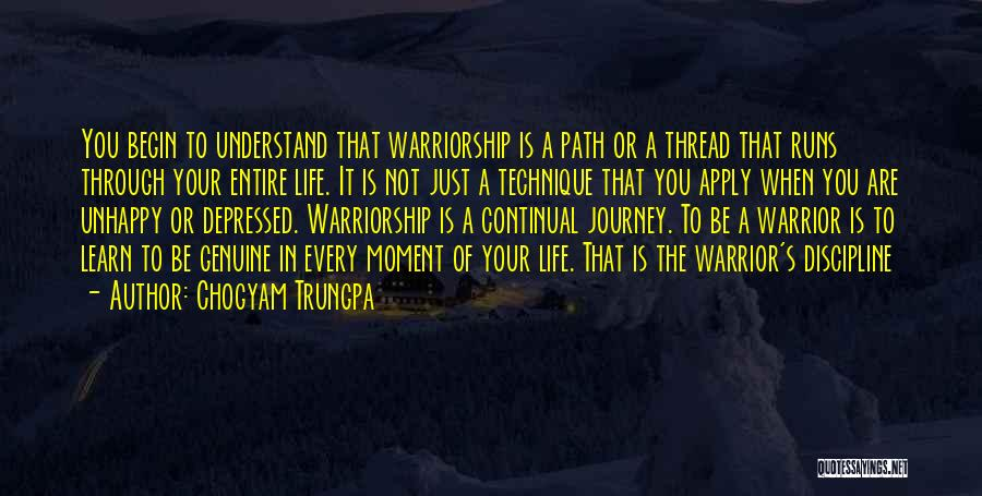 Depressed Life Quotes By Chogyam Trungpa