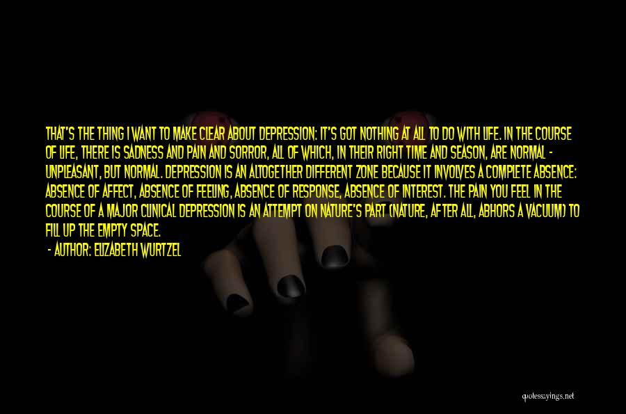 Depressed Life Quotes By Elizabeth Wurtzel