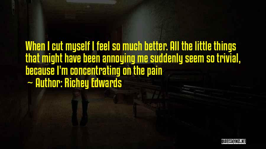 Depression And Cutting Quotes By Richey Edwards