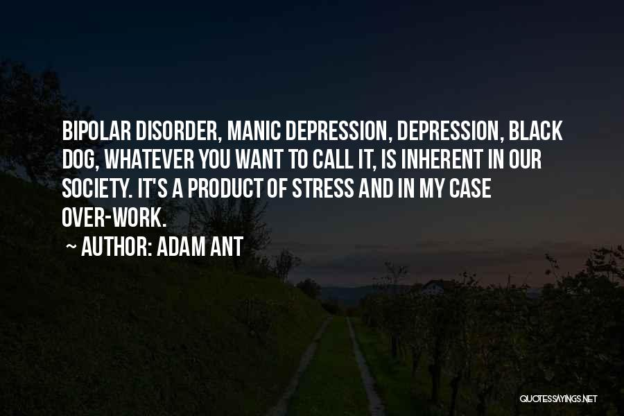 Depression And Stress Quotes By Adam Ant