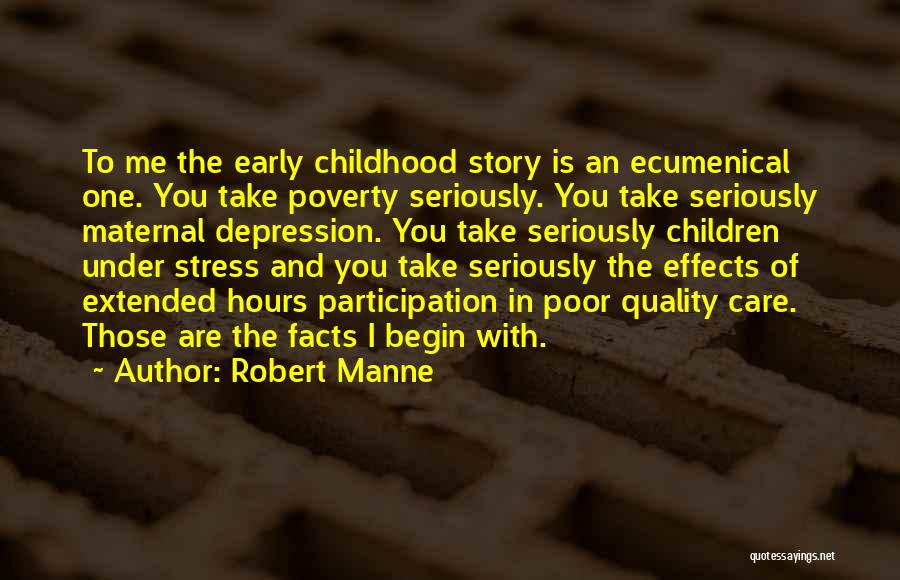 Depression And Stress Quotes By Robert Manne