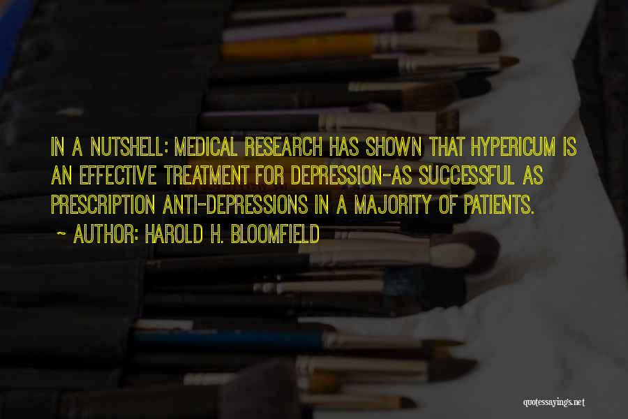 Depression Treatment Quotes By Harold H. Bloomfield