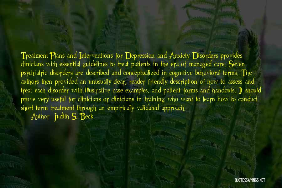 Depression Treatment Quotes By Judith S. Beck