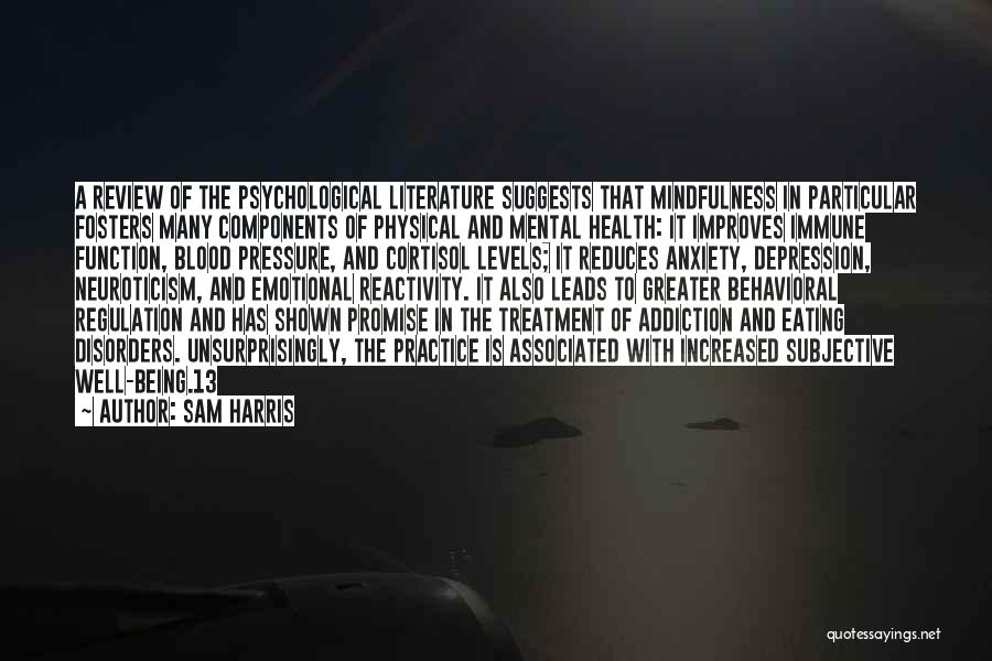 Depression Treatment Quotes By Sam Harris