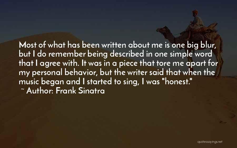 Described Quotes By Frank Sinatra
