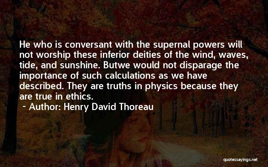 Described Quotes By Henry David Thoreau