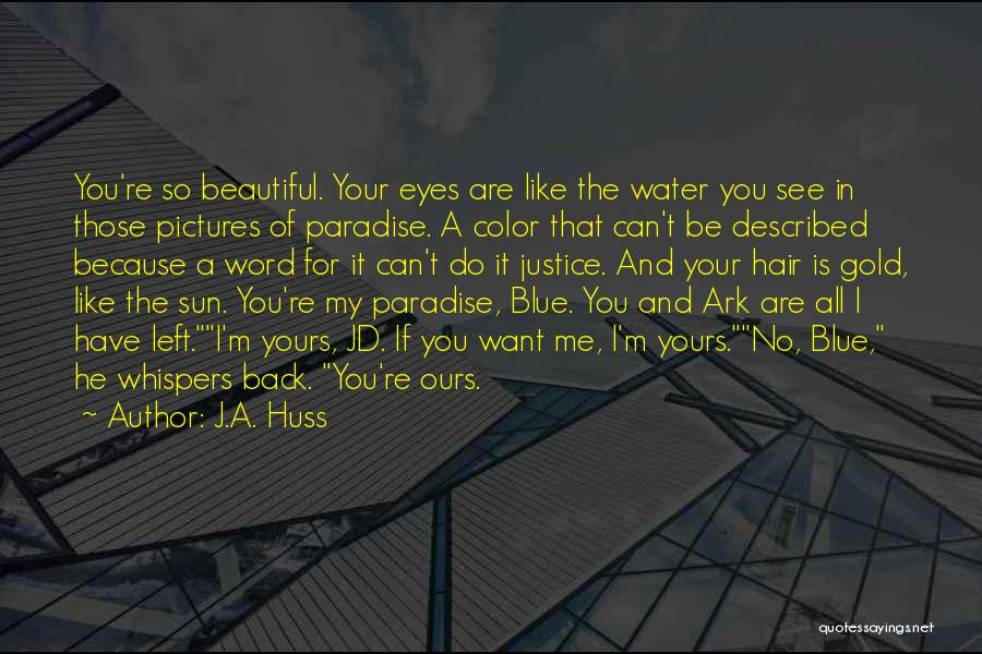 Described Quotes By J.A. Huss