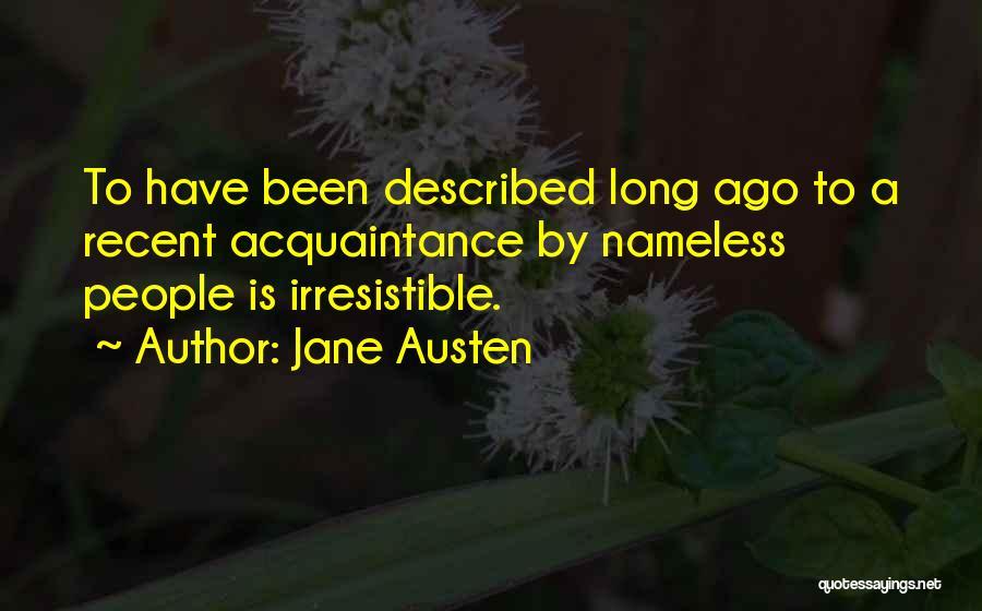 Described Quotes By Jane Austen