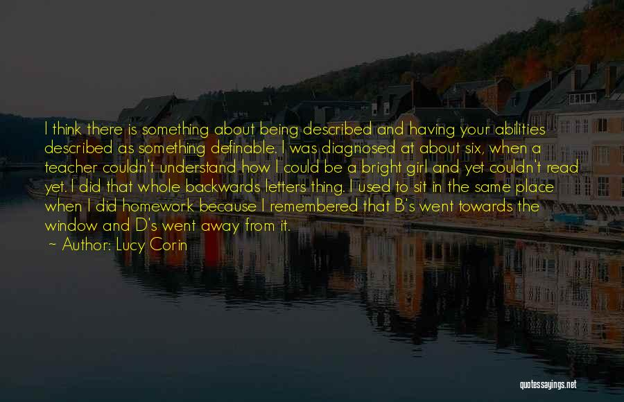 Described Quotes By Lucy Corin