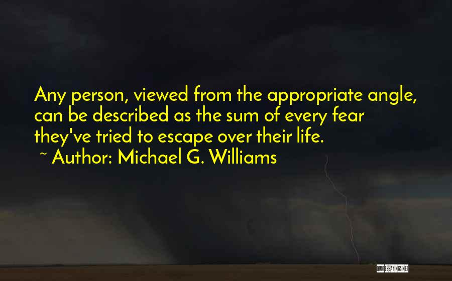 Described Quotes By Michael G. Williams