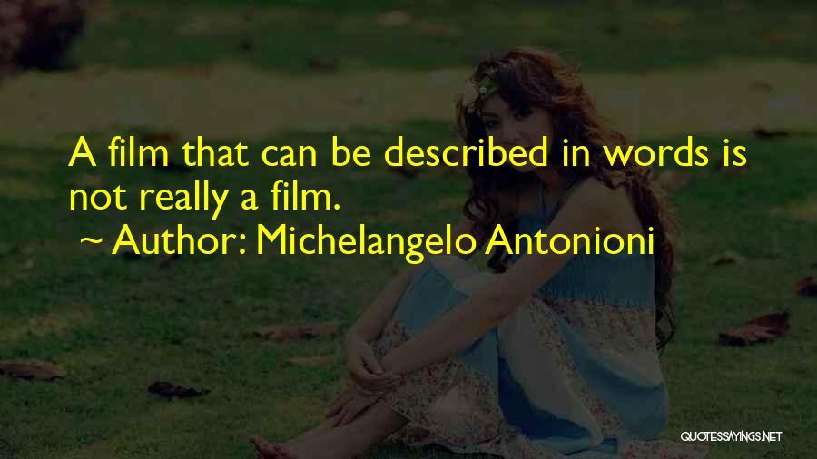 Described Quotes By Michelangelo Antonioni
