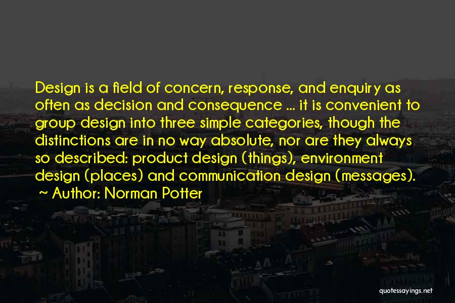 Described Quotes By Norman Potter