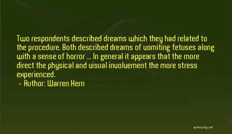 Described Quotes By Warren Hern