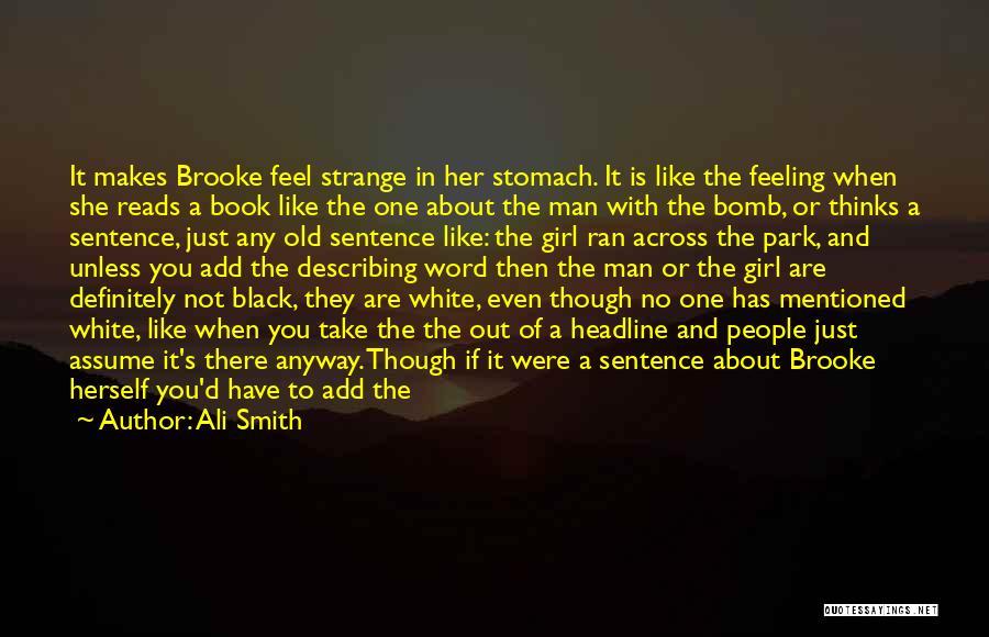 Describing A Girl Quotes By Ali Smith